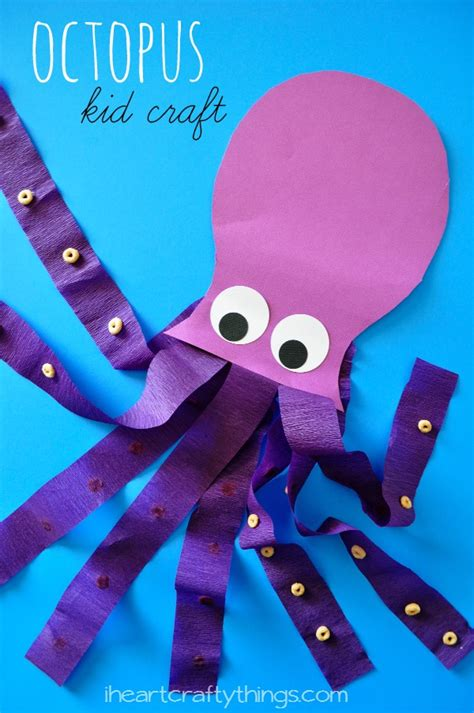 Paper Octopus Craft - craftionary