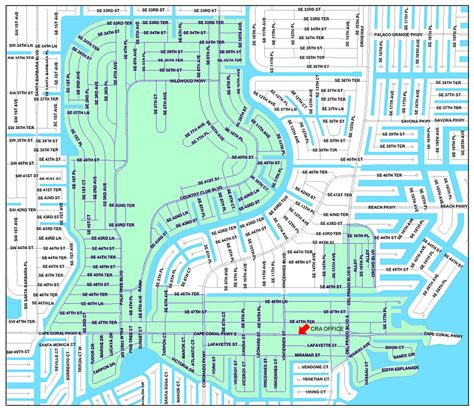 map of cape coral florida area file cape coral cra boundary map jpg