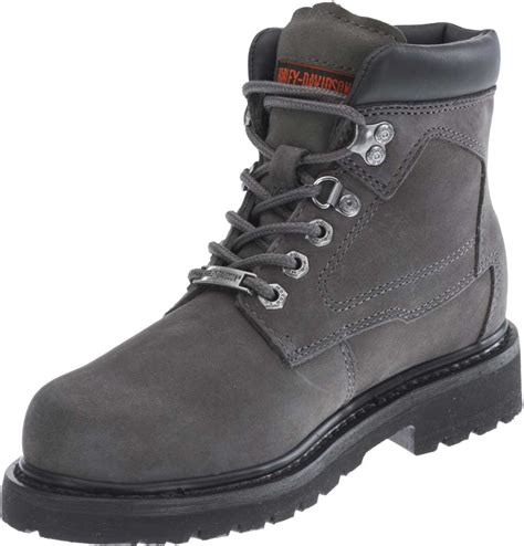grey motorcycle boots harley davidson women s bayport brown or grey 5 inch