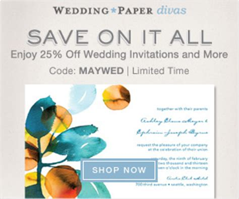 wedding paper divas promo wedding paper divas 25 save the dates may sale save