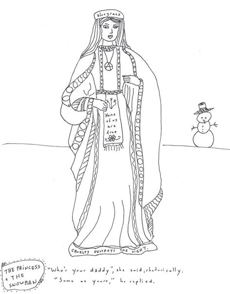 the princess a storybook to color princess bluegrass and the snowman