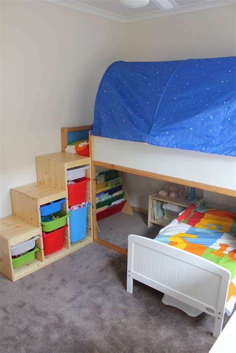 Bedroom Cool Furniture For Kid Bedroom Decoration Using Ikea Wooden Bunk Bed