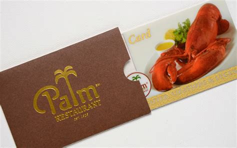 The Palm Gift Card - portfolio marketing creative printing
