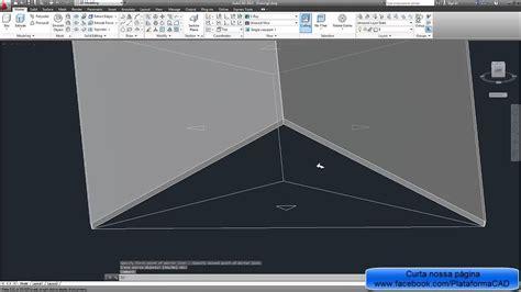 www autocad modelando um telhado 4 193 guas no autocad youtube