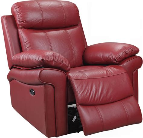 red leather reclining chair shae joplin red leather power reclining chair 1555 e2117