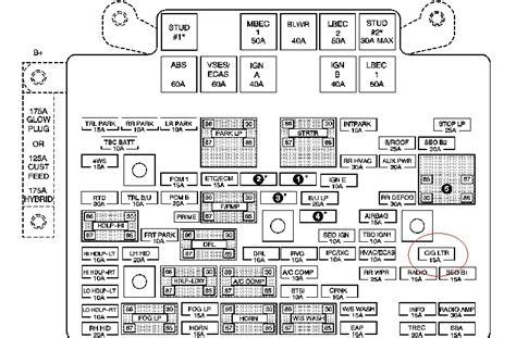 2005 Chevy Silverado 1500 Fuse Box Diagram Fuse Box And