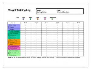 workout diary template 6 best images of free printable weight lifting workout