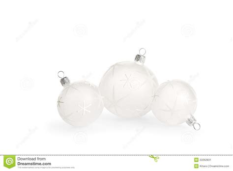 white christmas baubles stock image image 22262831