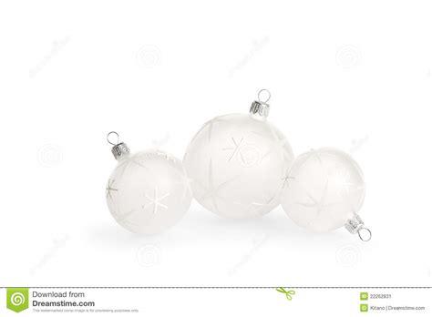 white christmas baubles stock image image 22262831