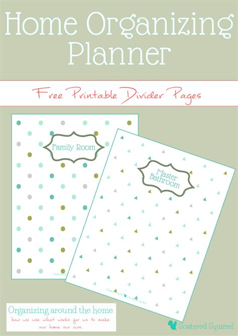 home organizing planner and some free printables