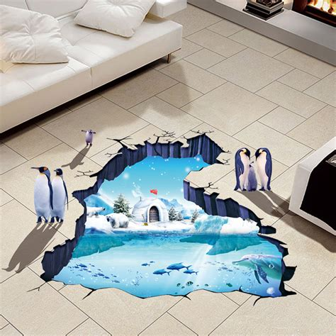 removable wall stickers ebay 3d polar world floor wall sticker removable mural decals