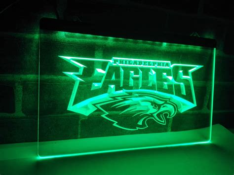 neon lights home decor ld054 philadelphia eagles football