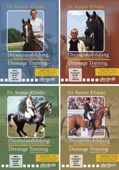 elementary equitation principles of horseback classic reprint books dressage 4 dvd set volumes 1 to 10 with dr