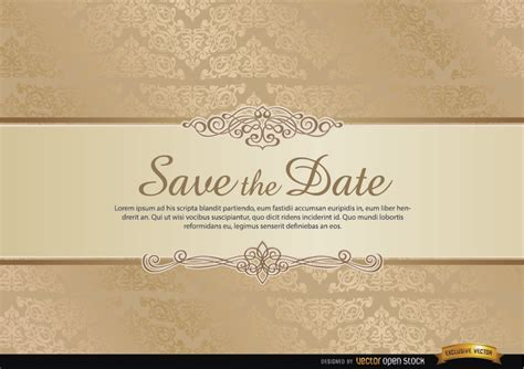 special invitation template special invitation card with floral ornaments free vector