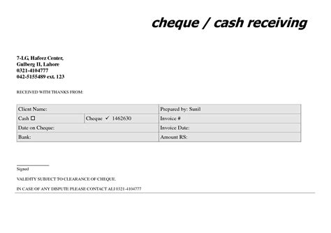 cheque receipt template cheque template for word html autos post