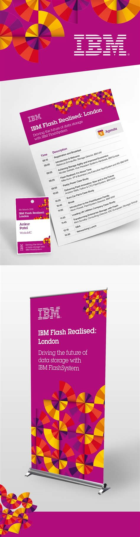flyer design name ibm event collateral flyer name badge and pull up