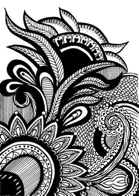 pattern design in drawing print of original henna mehndi pattern drawing by