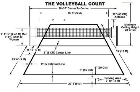 Volley Court Diagram