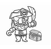 Dibujo De Pirata Con Tesoro Para Colorear  Dibujosnet