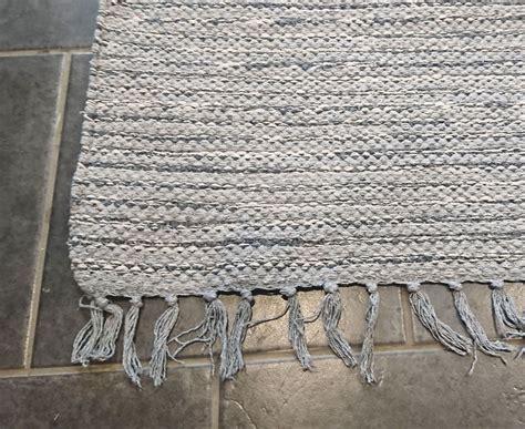 large grey recycled yarn rug soft chunky cm  cm
