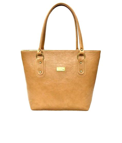 Tote Bag 549 utsukushii beige pu tote bag available at snapdeal for rs 549
