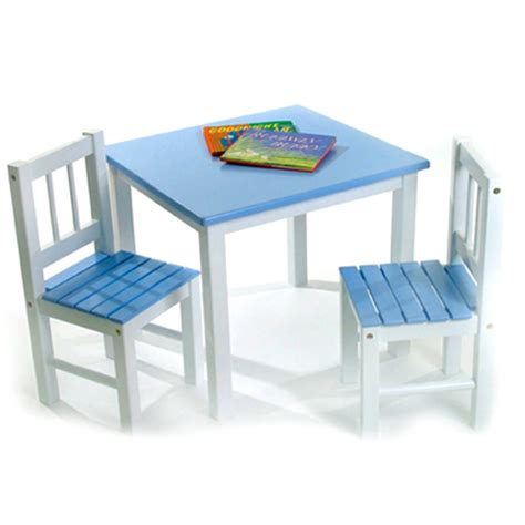 Toddler Wooden Table And Chairs by Childrens Wooden Table And Chairs Blue In Furniture