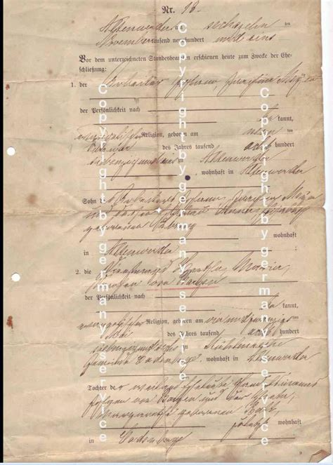 Search German Birth Records Translate German To