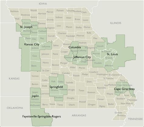 map missouri area codes metro area zip code maps of missouri