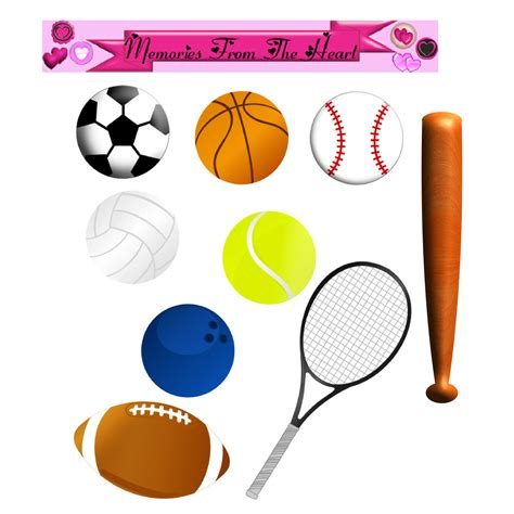 sports clip sports equipment clipart black and white www imgkid