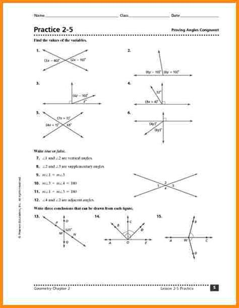 Congruent Triangle Worksheet by 8 Congruent Angles Worksheet Media Resumed