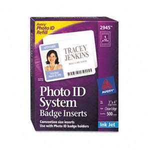 printable name badge inserts avery photo id badge inserts and holders ave2945