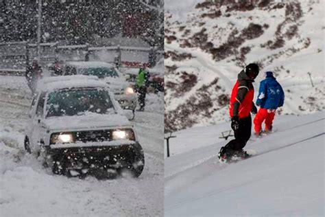 cadenas para nieve rosario nieve esperada por turistas y otras veces un problema grave