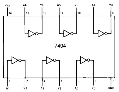 pin diagram of ic 7404 image gallery 7404 ic