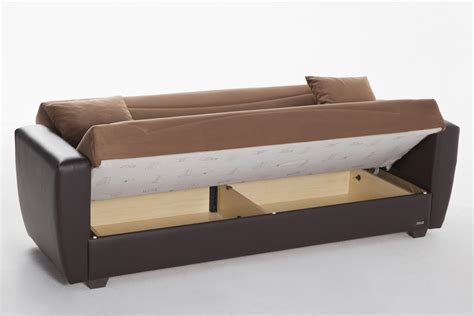 power beds power rainbow brown convertible sofa bed by sunset