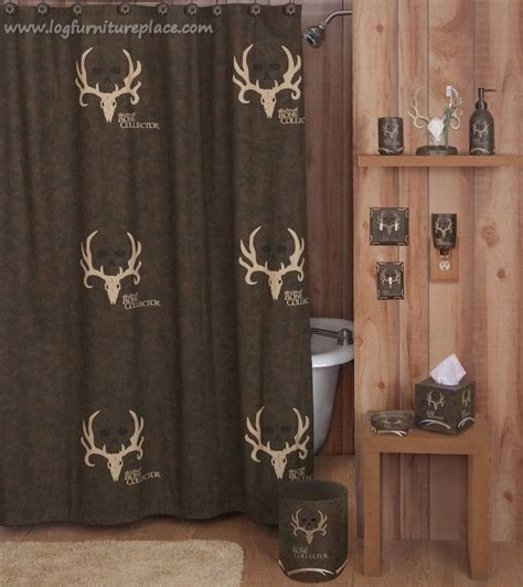 bone collector curtains bone collector shower curtain bathrooms decor boys and