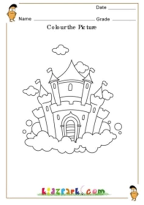 coloring pages for ukg colour the castle resource colouring worksheets