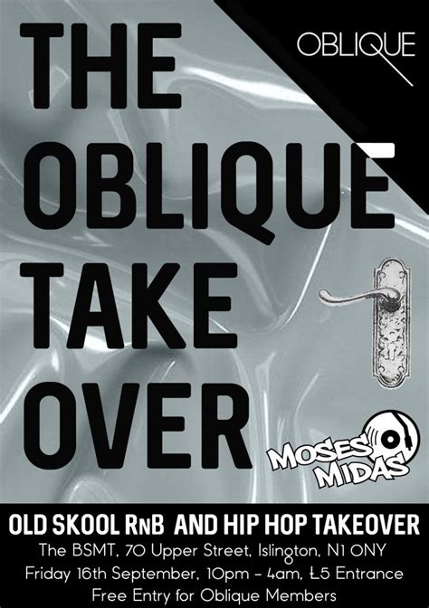 The Hip Hop Takeover by The Oblique Skool Rnb And Hip Hop Takeover Oblique