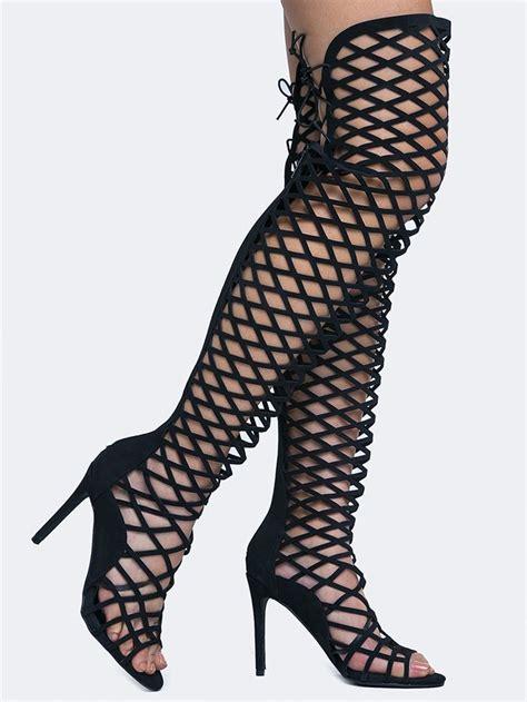 gladiator thigh high heels best 25 thigh high gladiator heels ideas on