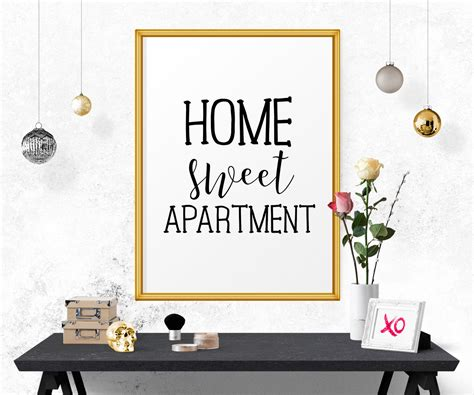 home sweet apartment apartment decor home decor print