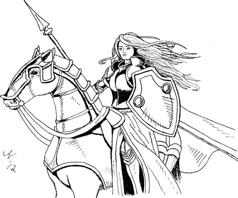 free coloring pages of medieval knights