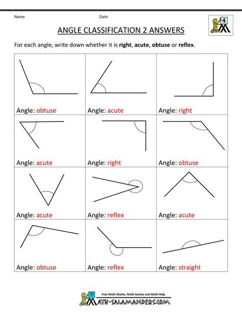 classifying angles worksheet 3rd grade angles worksheets