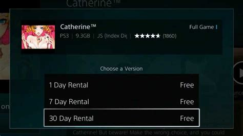 s day rental playstation store update brings non functioning rental
