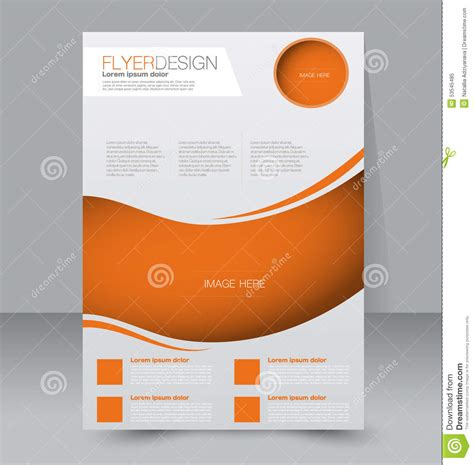 flyer template business brochure editable a4 poster