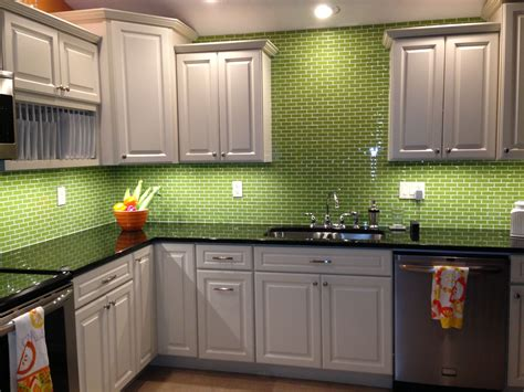 glass kitchen backsplash ideas lime green glass subway tile backsplash kitchen kitchen
