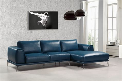 Modern And Stylish Living Room Design With Trendy Blue Modern Blue Sofa