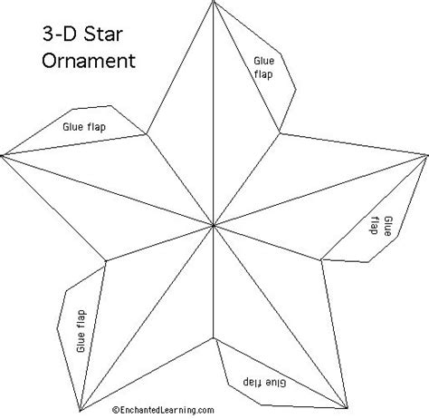 free star pattern http www enchantedlearning com crafts