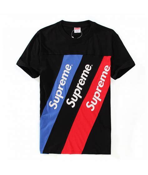 T Shirt Supreme White 0 2 Broy supreme quot multicolor stripes crewneck quot t shirt black