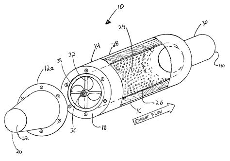 Exhaust System Drawing Patent Us7380639 Backpressure Reducing Exhaust System