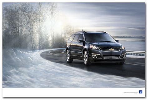 Winters Chevrolet Traverse On A Winter Road Poster Chevymall