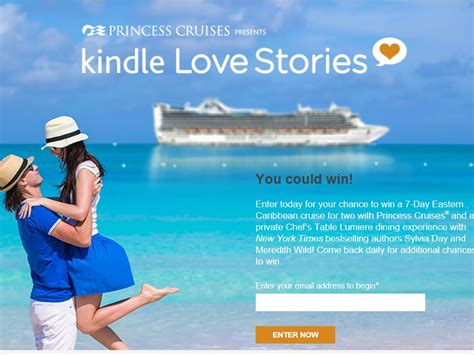 Www Princess Com Sweepstakes - princess cruises kindle love stories sweepstakes sweepstakes fanatics
